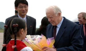Jimmy Carter on a visit to Pyongyang in 2010 to try to win the release of a jailed American.