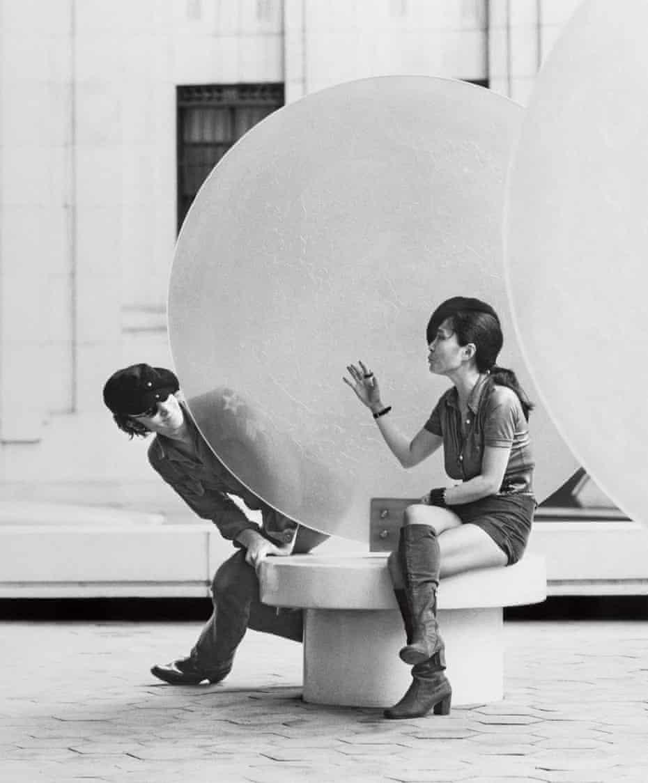John and Yoko shooting the film Imagine in New York, September 1971.