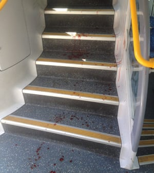 Richmond train crash bloodstains