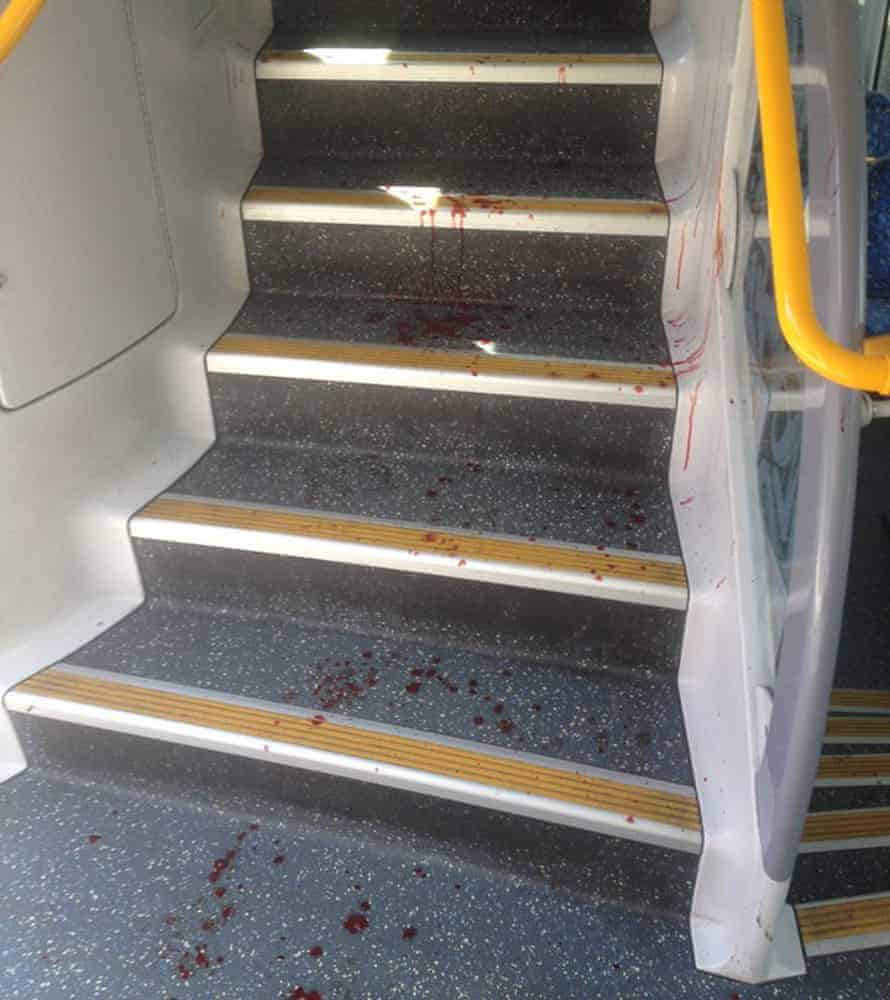 Richmond train crash bloodstains