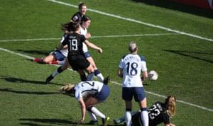 Manchester City's Caroline Weir scores their third goal.
