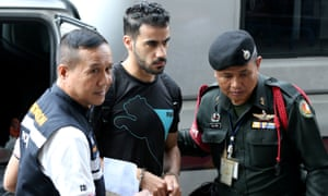 Hakeem al-Araibi arrives at court in Bangkok in December