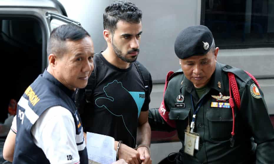 Hakeem al-Araibi arrives at court in Bangkok in December