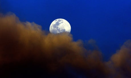 The moon, pictured in the sky over Valencia, Venezuela.