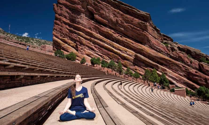 Jodi Ottenberg meditating.