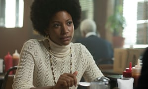 Crusading journalist ... Natalie Paul as Sandra in the Deuce.