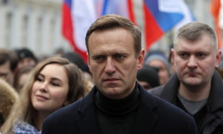 Alexei Navalny in Moscow in February