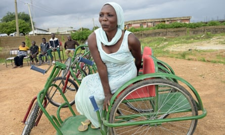 Clementina Kuptong at the Beautiful Gate Handicapped People's Centre in Jos, Plateau state, Nigeria