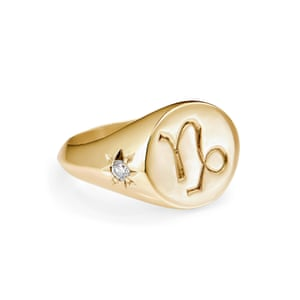 Capricorn gold Vermeil ring, £240, rachelentwistle.co.uk