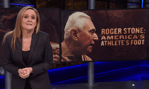 "Samantha Bee: Roger Stone is ""not a supervillain or a gangster - he just shows up when things are getting dirty. He's more like America's athlete's foot."""
