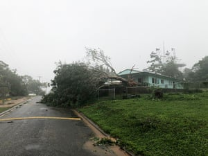 Lockhart River struggles for phone or internet services during the wet season, when cyclones such as this storm in 2019 typically hit.