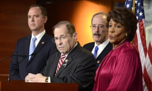 Jerry Nadler, second from left, and Eliot Engel, third from left, are among Democrats facing primary challenges.