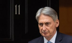 Chancellor Philip Hammond leaves 11 Downing Street in Westminster, London.