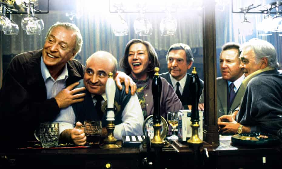 Fred Schepisi's film version of Last Orders (2001), with (from left) Michael Caine, Bob Hoskins, Helen Mirren, Tom Courtenay, Ray Winstone and David Hemmings.