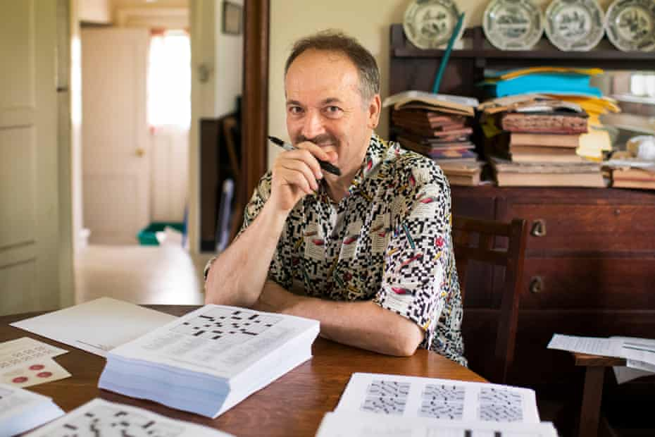 Will Shortz at his home in upstate New York.