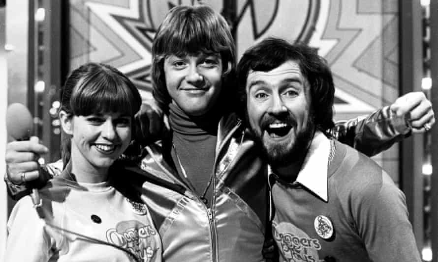 Keith Chegwin (centre) with Debby Cumming and Gordon Astley on Cheggers Plays Pop in 1979