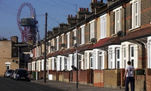 A row of terraced houses in Newham, east London.