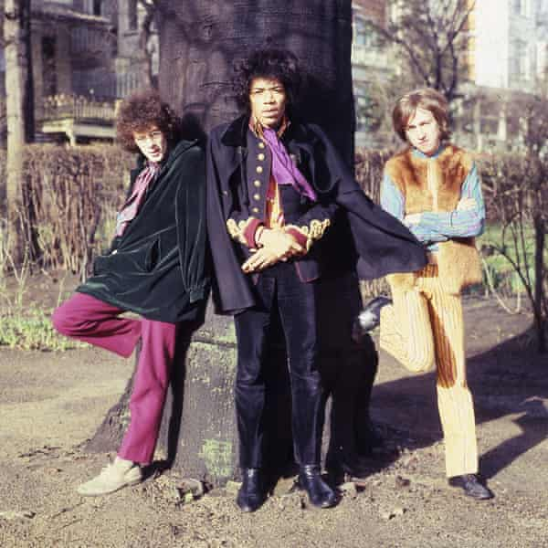 Noel Redding, left, with Jimi Hendrix and Mitch Mitchell, in 1967.