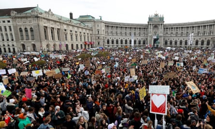 Young people demonstrate