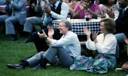A still from Jimmy Carter: Rock & Roll President.