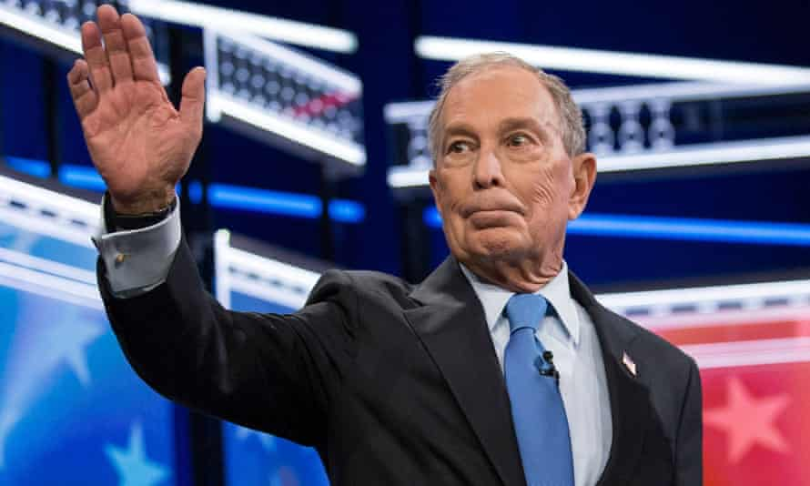 Michael Bloomberg at the Democratic primary debate in Las Vegas