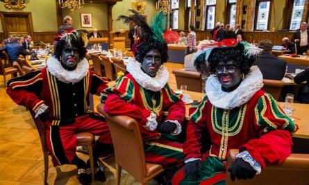 Dutch rightwing PVV state members Ton van Kesteren, Matthijs Jansen and Dennis Ram