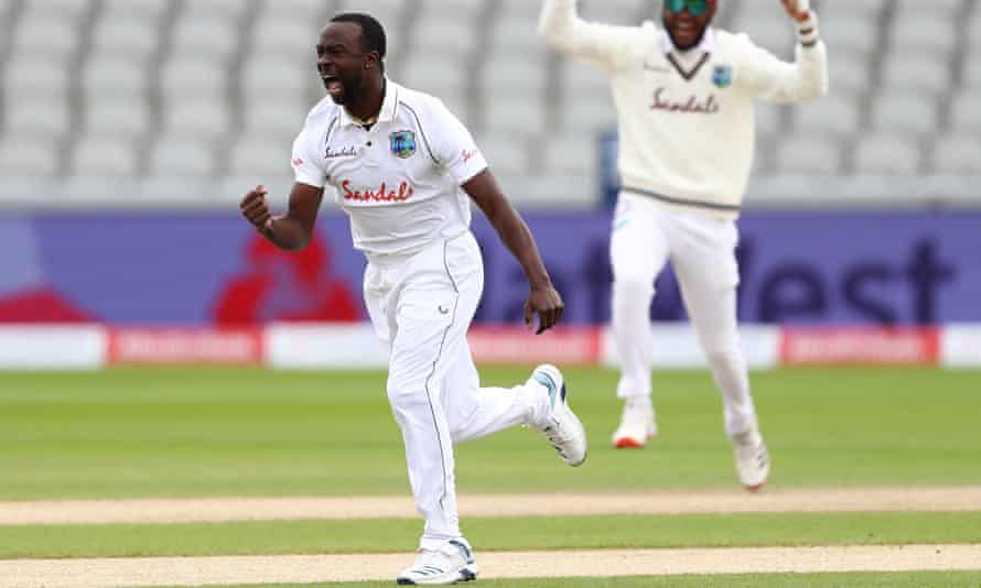 Kemar Roach has passed the 200-wicket mark during this Test at Old Trafford, the 59th of his career.