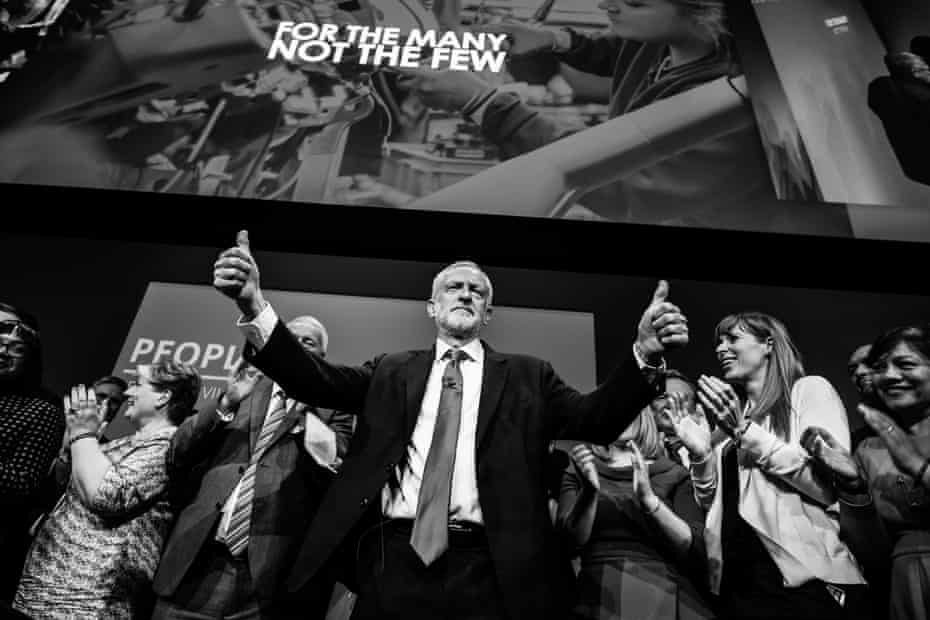 Corbyn acknowledges applause following his speech to the Labour party annual conference in Brighton in September