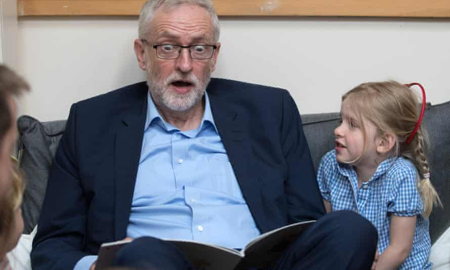 Jeremy Corbyn reading