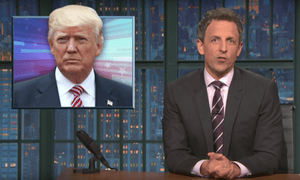 'Maybe the craziest part is the the absurd lengths Trump went to to try to get Comey to pledge his loyalty by essentially playing word games with him'...Seth Meyers