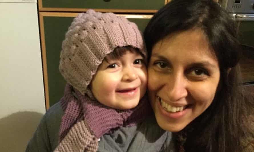 Nazanin Zaghari-Ratcliffe and her daughter, Gabriella in London in February.