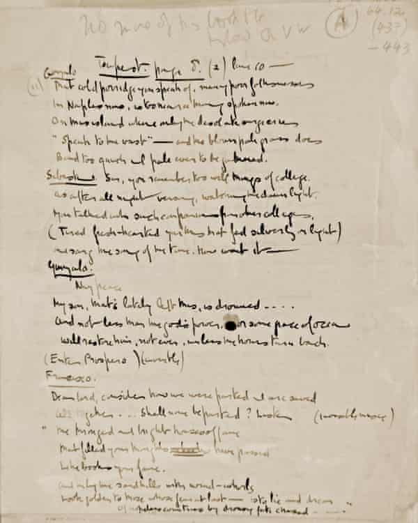 Gurney wrote more than 650 poems, 200 musical compositions and a handful of plays while in the asylum. This manuscript is Gurney's rewriting of Prospero's speech from The Tempest.