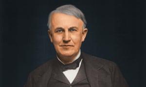 American inventor Thomas Alva Edison, circa 1920.