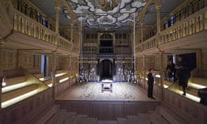 The Sam Wanamaker Playhouse, where only a third of the stage is visible all-round.