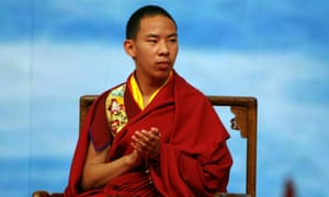 The Chinese-backed 11th Panchen Lama Gyaltsen Norbu attending China's first international religious forum in 2006.