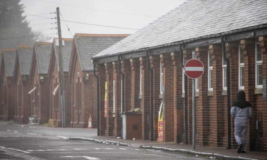 Napier Barracks, Folkestone, on 13 January.