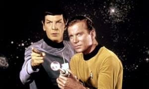 Leonard Nimoy and William Shatner pictured in 1966 in Star Trek