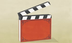 Illustration of book with spine as clapperboard
