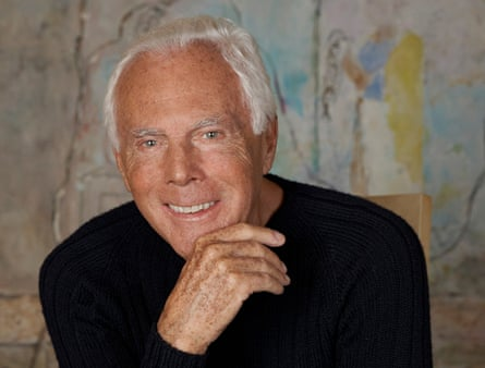Armani: 'I really believe the English were the first to create a new fashion.'