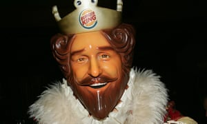Burger King mascot: would now be allowed to work in his own restaurant.