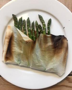 Asparagus in a bag.