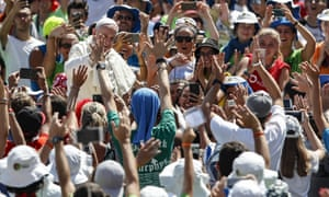Pope Francis, seen greeting fans earlier this month, is expected to draw large crowds in Dublin