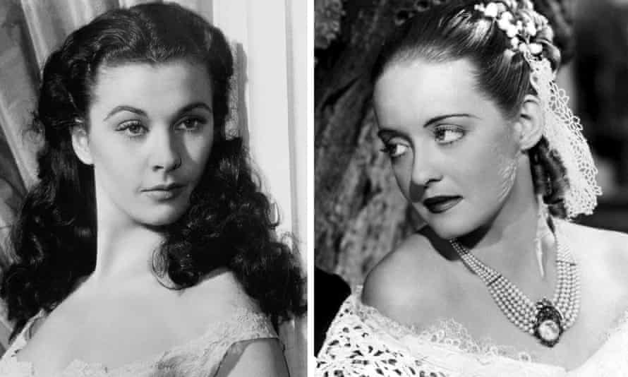 Vivien Leigh, left, as Scarlett O'Hara in Gone With the Wind and Bette Davis in Jezebel.