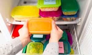 Think of your freezer like a filing cabinet - stack and label.