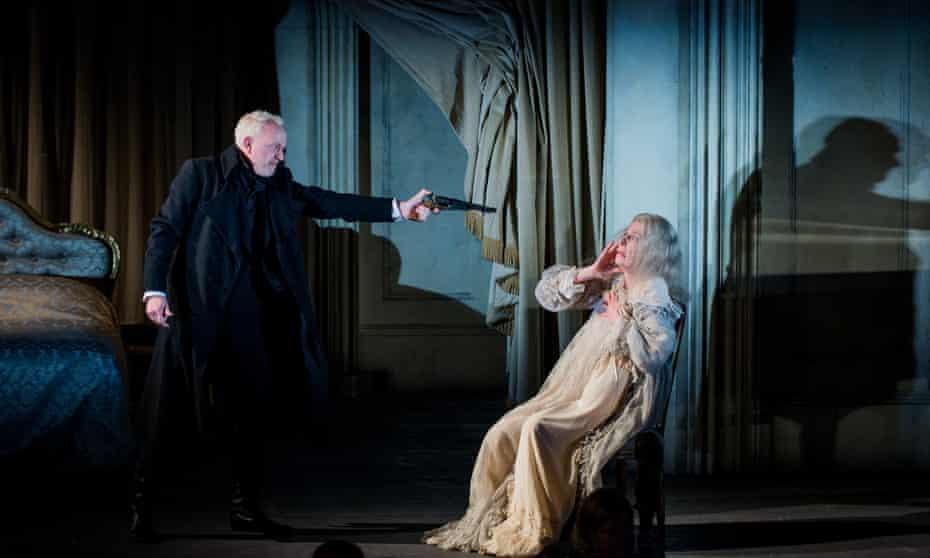 Exceptionally strong, musically … Peter Wedd (Herman, left) and Rosalind Plowright (the Countess) in The Queen of Spades.