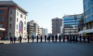 Police raid the MDC in Harare, Zimbabwe.