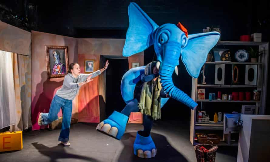 Heidi Goldsmith and Elaine Hartley in The Slightly Annoying Elephant at Little Angel Theatre.