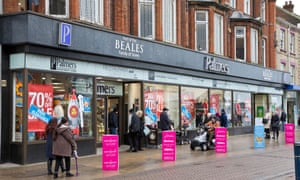 Great Yarmouth's Palmers store, owned by Beales which has gone into administration.