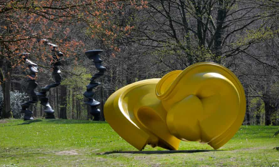 Tony Cragg Declination (2004, Bronze) at Skulpturenpark-Waldfriden, Germany