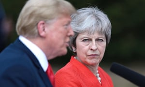 Donald Trump and Theresa May pictured during the US president's visit to the UK in July